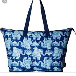Lilly Pulitzer elephant getaway packable tote